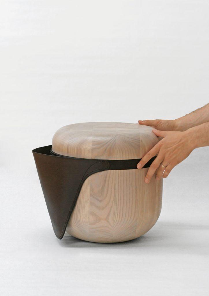 Barbora Adamonyte-Keidune Wooden Stool Design 1